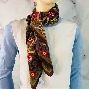 "PENDLETON 100% Silk Scarf Square 29x30"" Floral"